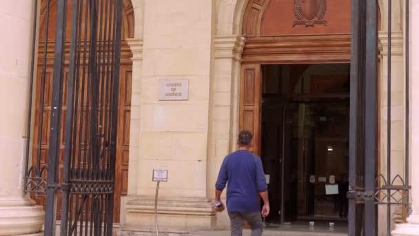 Courts of Justice in Valletta - VALLETTA, MALTA - MARCH 5, 2020