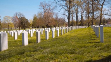 Famous Arlington Cemetery in Washington DC - WASHINGTON, USA - APRIL 8, 2017