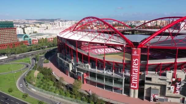 Légi felvétel a Benfica Lisszabon labdarúgó stadion nevű Estadio da Luz - Lisszabon, Portugália - november 5, 2019