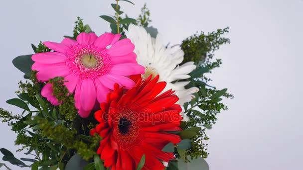 postcard, flower greetings