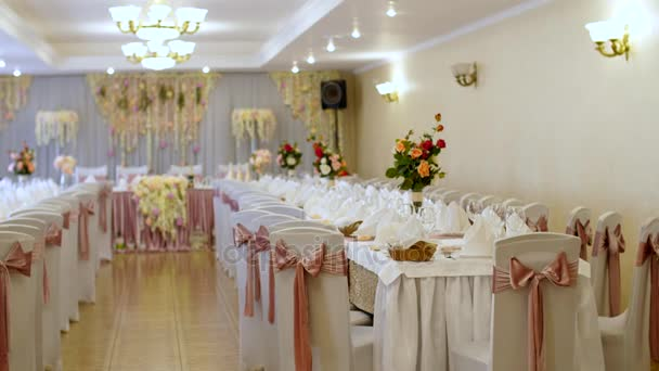 Wedding decoration of tables in a restaurant at a banquet wedding wedding decoration of tables in a restaurant at a banquet wedding decorations made from junglespirit Choice Image