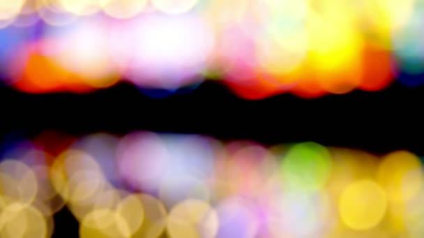 krásné pozadí vícebarevné osvětlení. detail, rozmazané, měkké zaostření. Rozostření bokeh abstraktní světla, Multicolor osvětlené pozadí