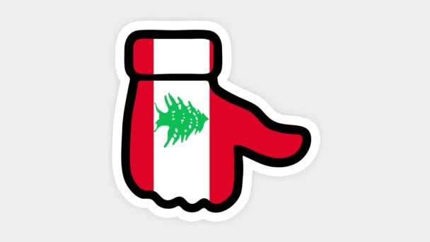 vertical screen, Vertical format. Drawing, animation is in form of like, heart, chat, thumb up with the image of Lebanon flag . White background