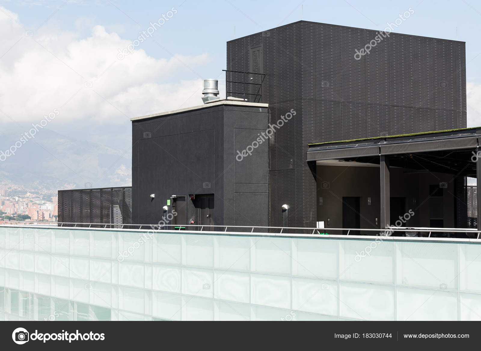 Edificio Moderno Arquitectura Terraza Foto De Stock