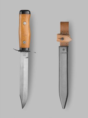 Military   knife with scabbard