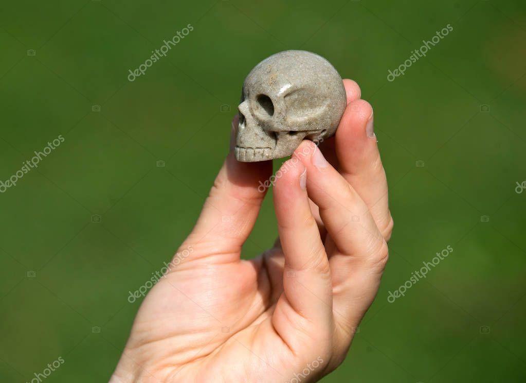 Sarsen stone skull from Avebury sacred site