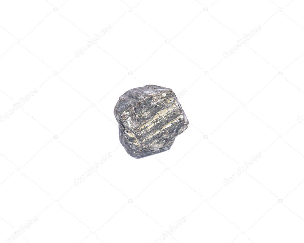 Natural pyrite cube from Peru