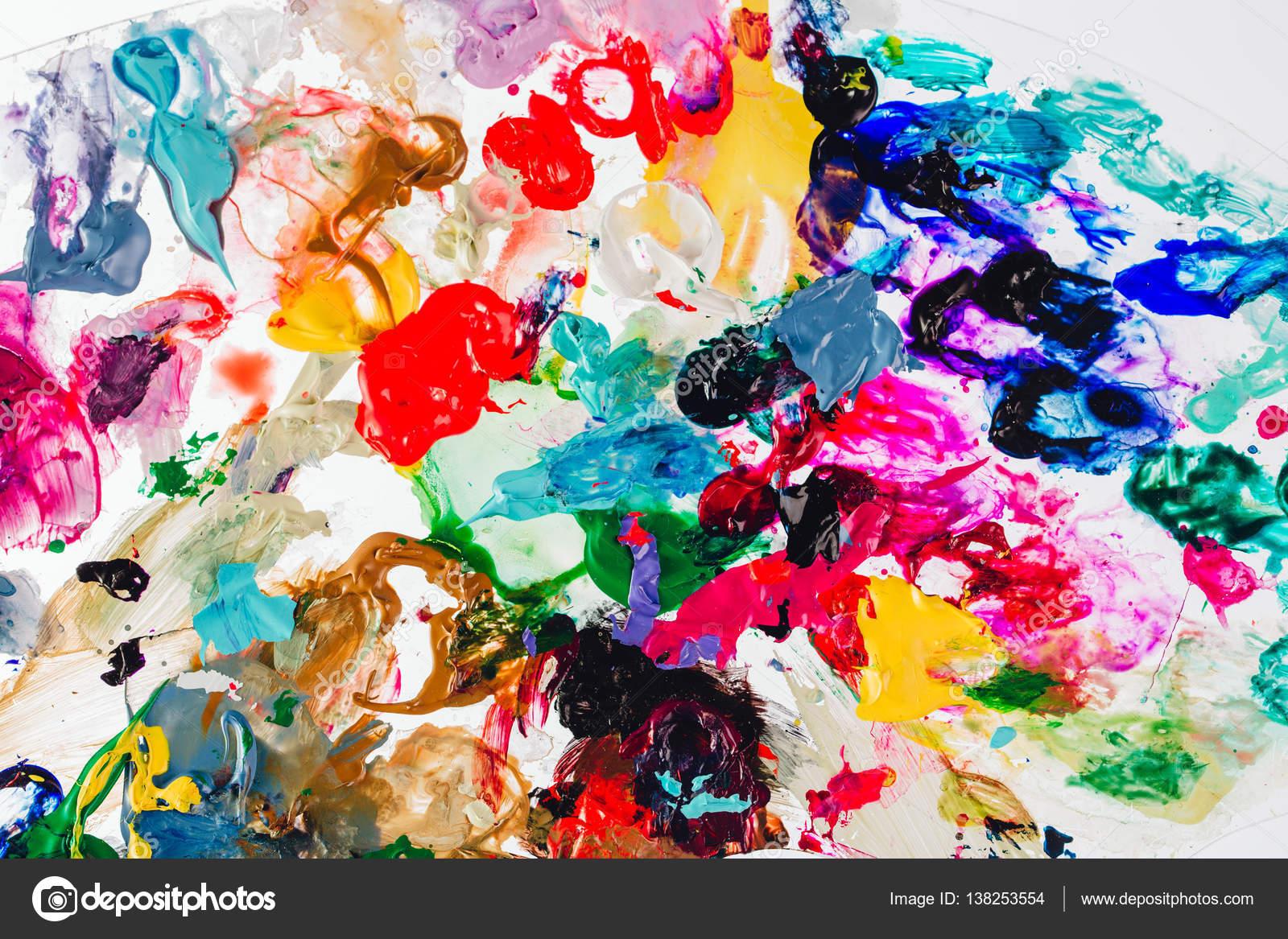 Peintures Modernes Colorées macro se bouchent de peinture à l'huile couleur différente