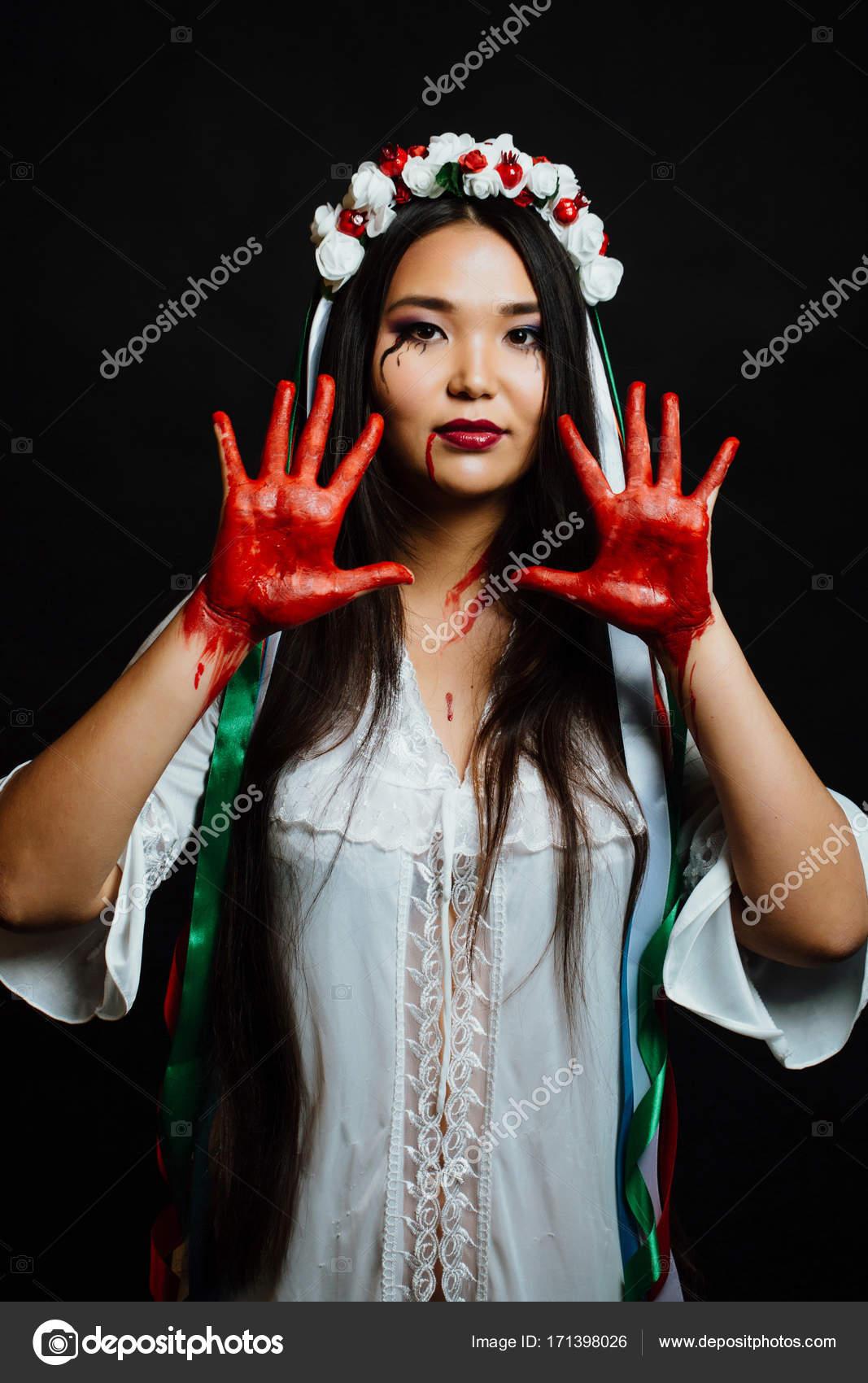 vit klänning halloween