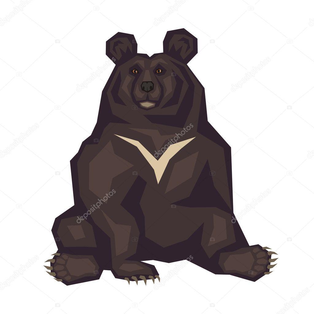 Гималайский медведь картинки на белом фоне смерти знаменитости
