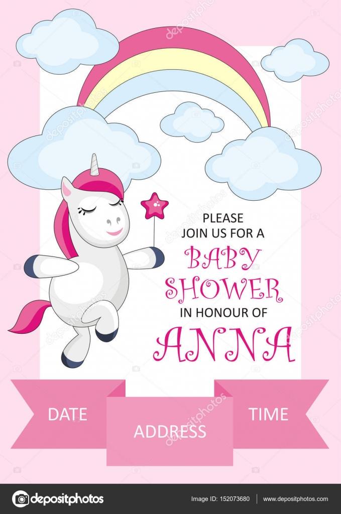 Baby Shower Card Stock Vector Belova8516 Yandex Ru
