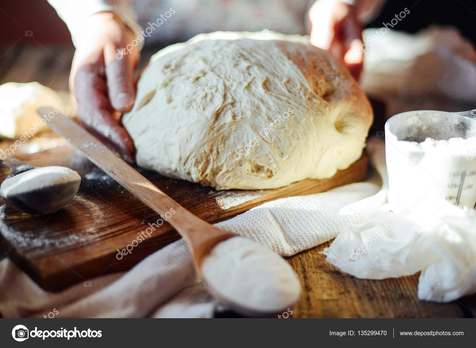 como hacer masa para pan amasado