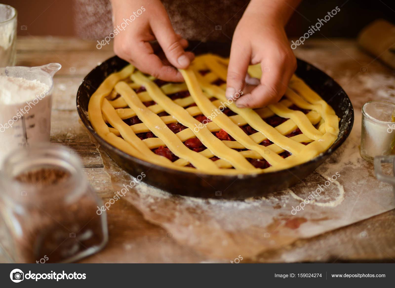 Hintergrund Mit Zutaten Fur Obst Und Schokolade Kuchen Backen