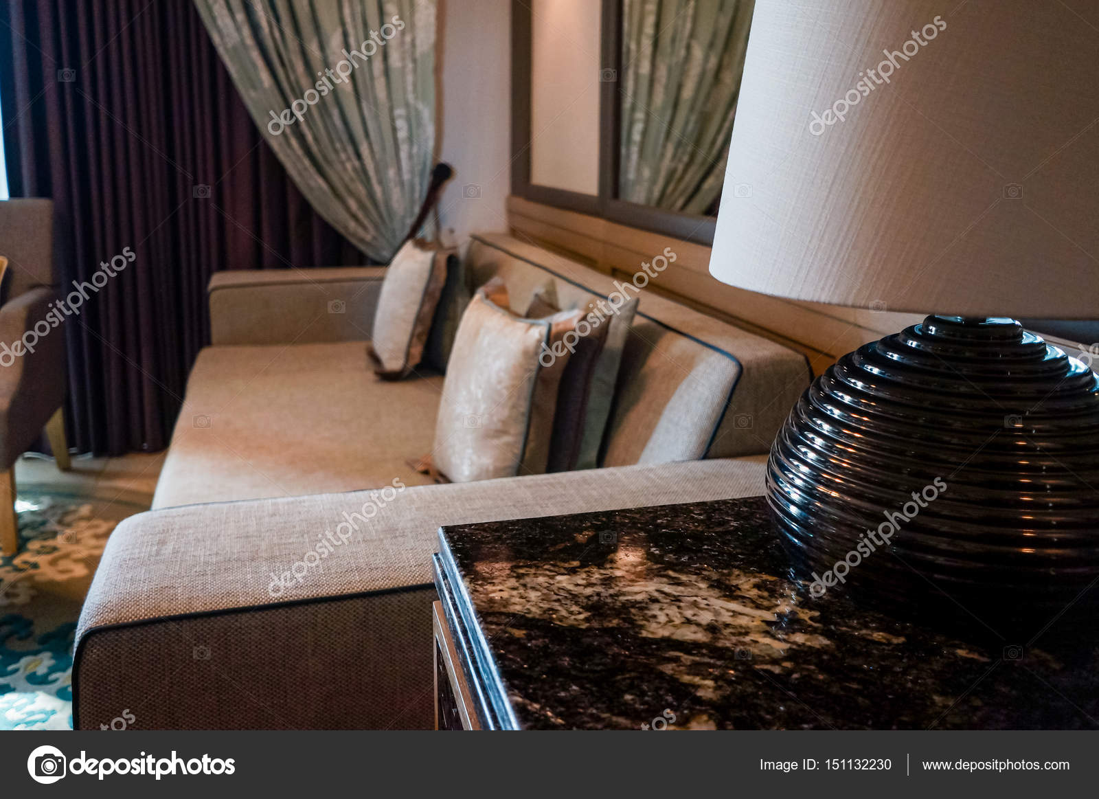 in the summer of 2016 modern and bright interior marble decoration in the