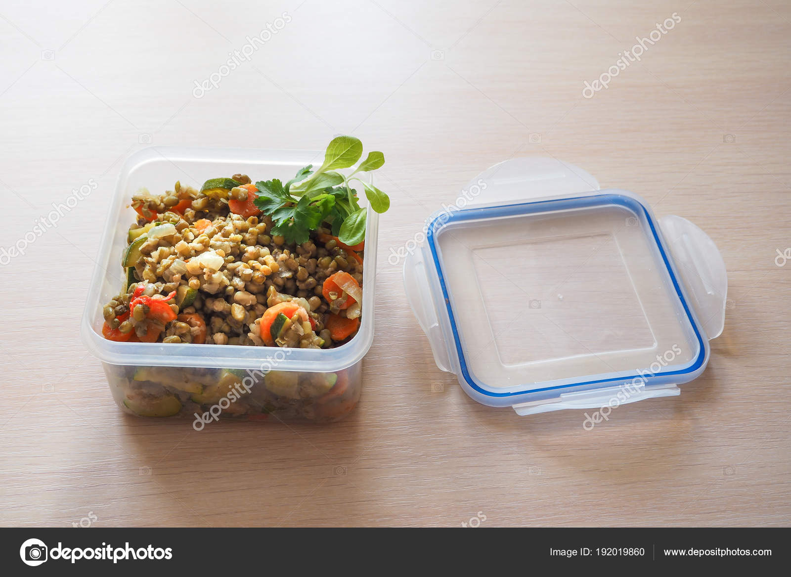Empty Plastic Food Storage Containers Concept Long Term Storage