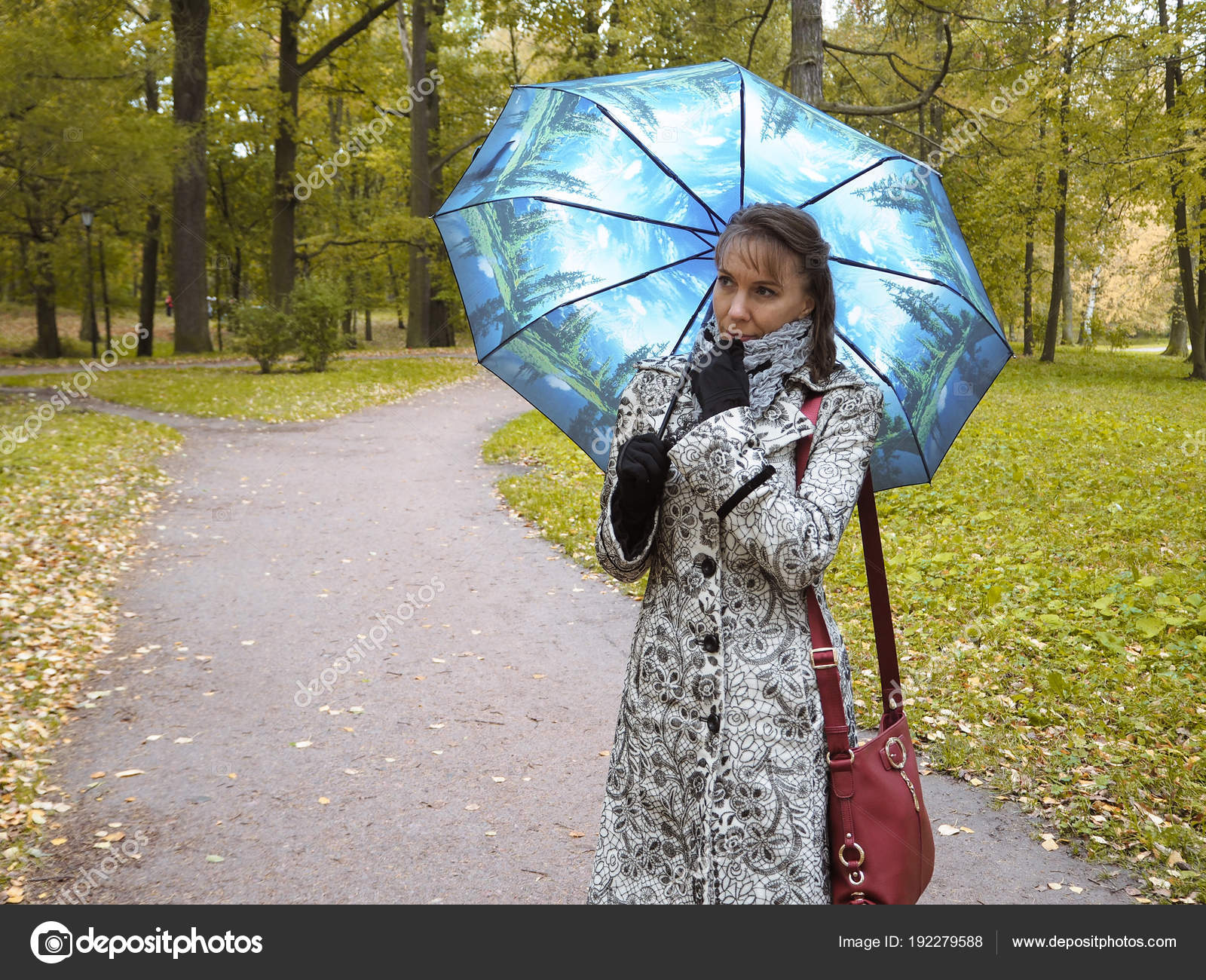 Woman Umbrella Park Stock Photo C Sablinstanislav 192279588