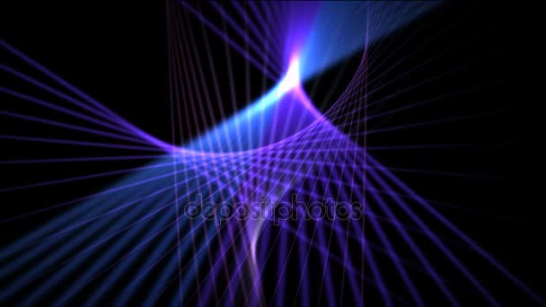 Abstract Background Video Blue Purple Rays On A Brown Background