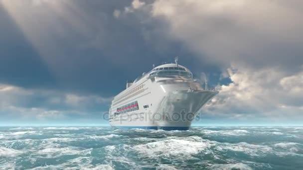 Heck-Kreuzfahrtschiff