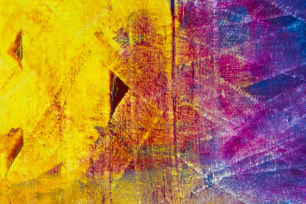 Colorful Abstract Oil Painting Background Stock Photo