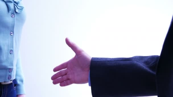 Obchodní partneři handshake - muži a ženy - 4 k