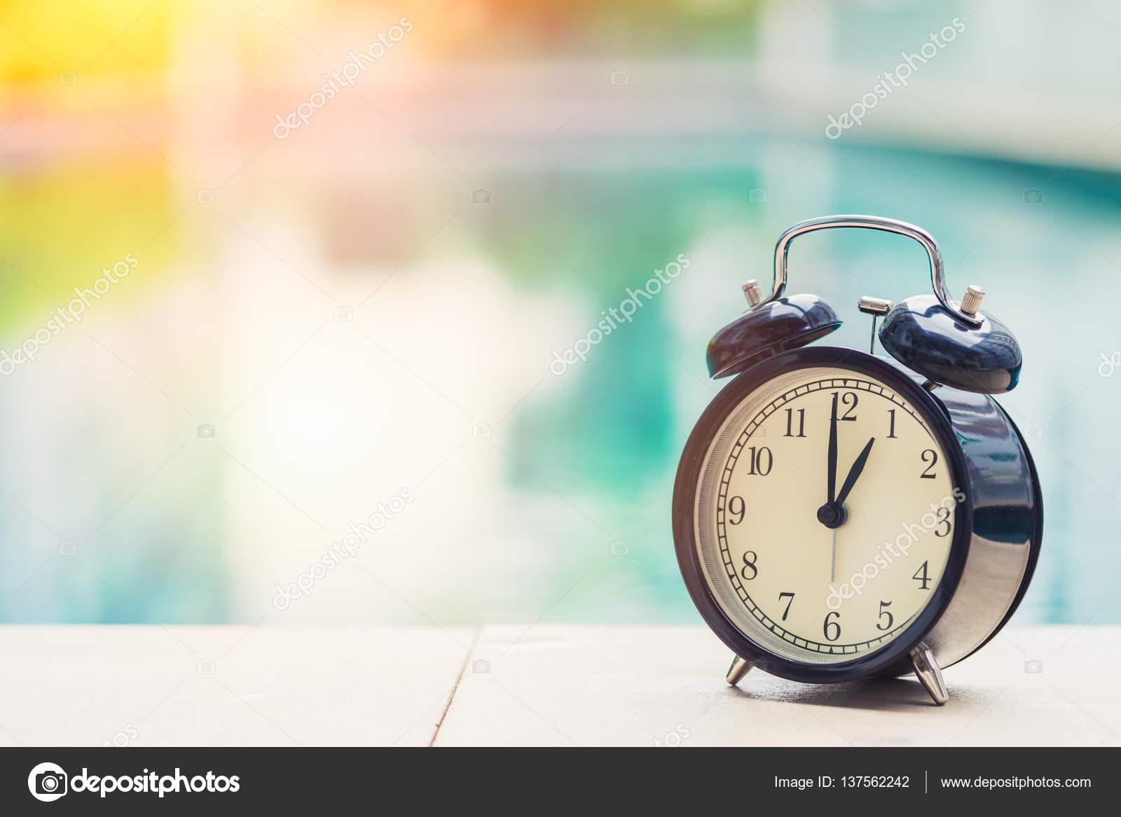 Outdoor Swimming Pool Clocks.1 O Clock Retro Clock At The Swimming Pool Outdoor Holiday
