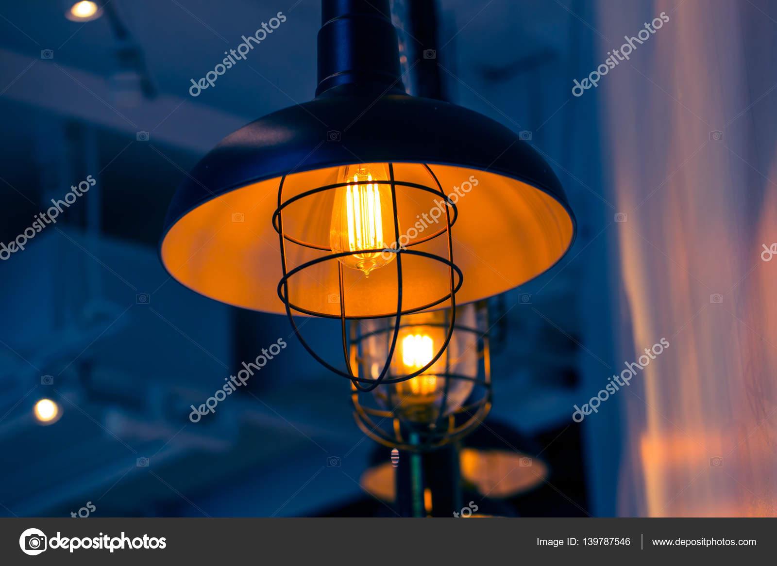 Closeup Retro-Stil Lampe Lampe, Loft Stil Innendekoration ...