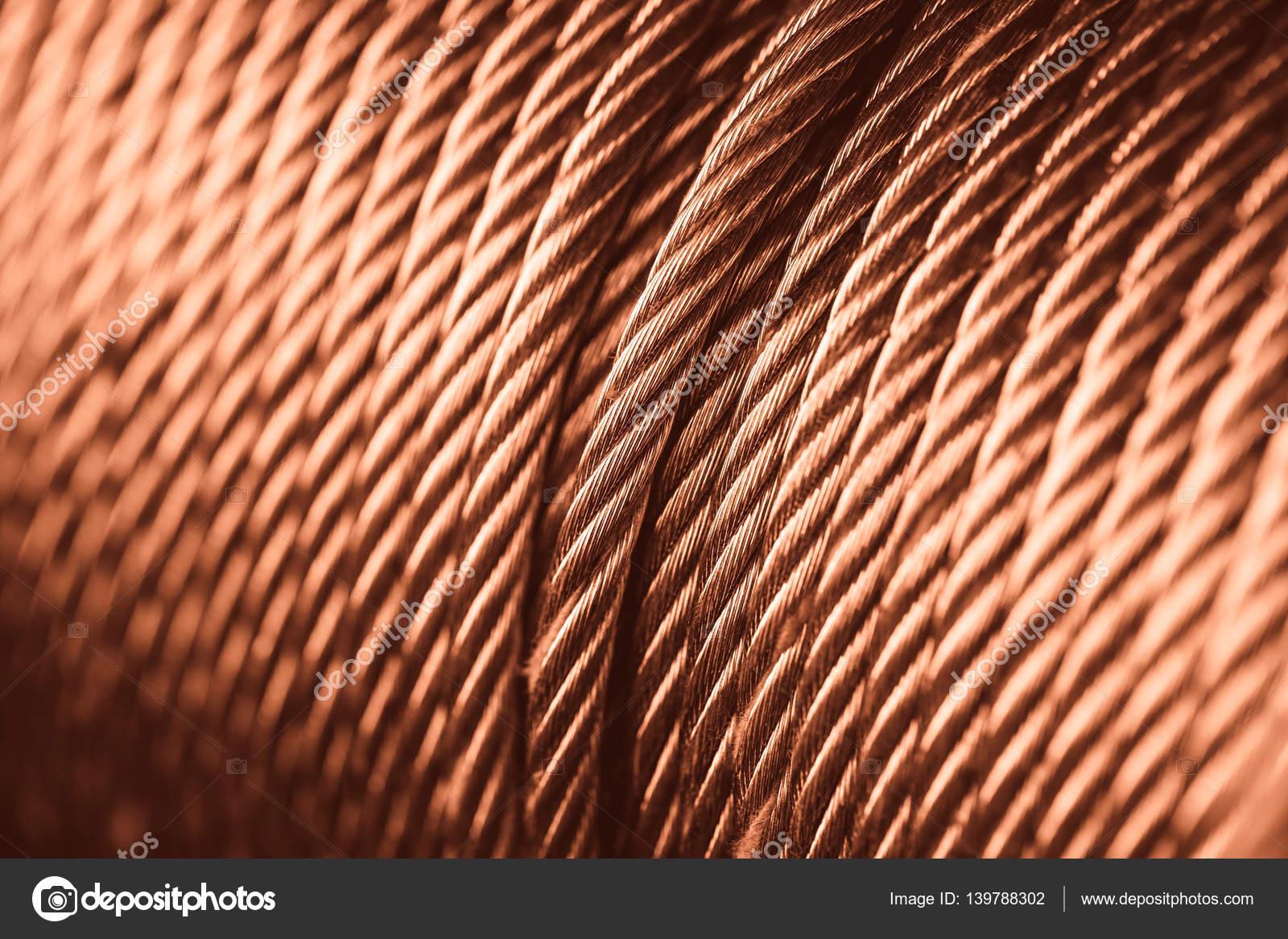 Kupfer Draht, Stahl-Draht goldenen roten Farbton — Stockfoto ...