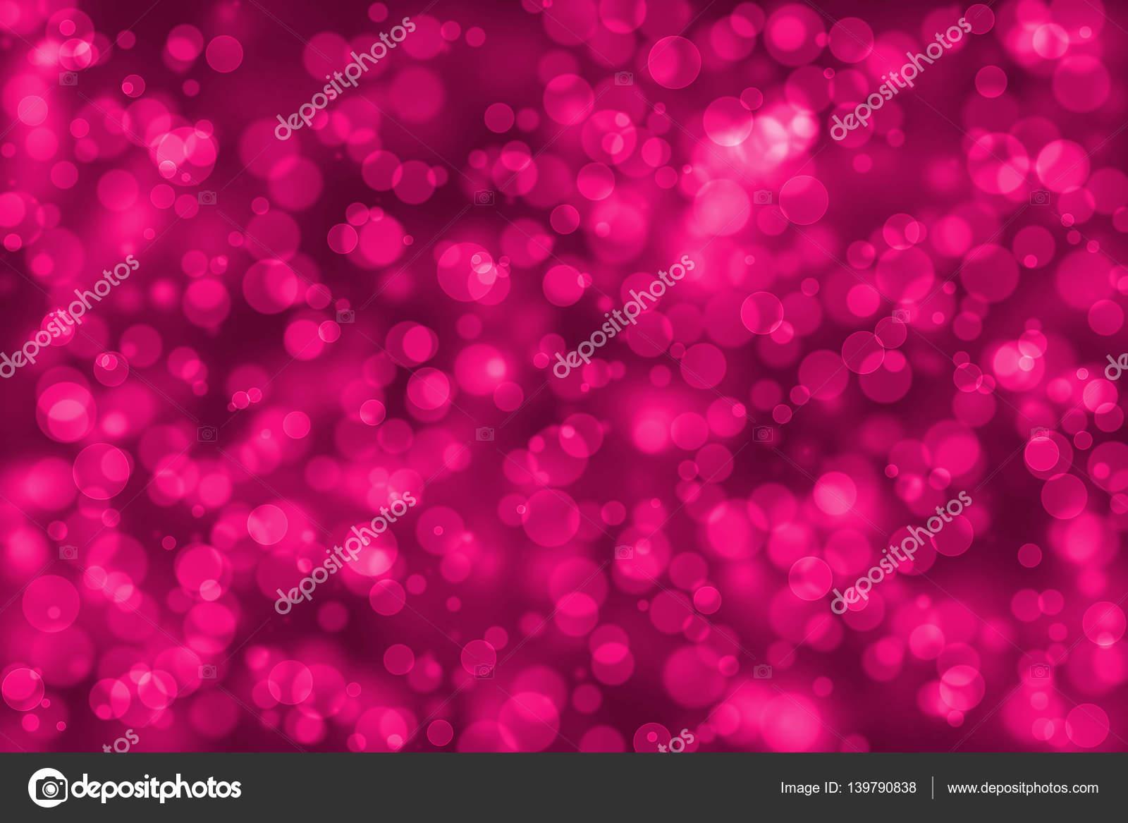 Bokeh de desenfoque de Color Rosa de fondo, círculo redondo forma ...