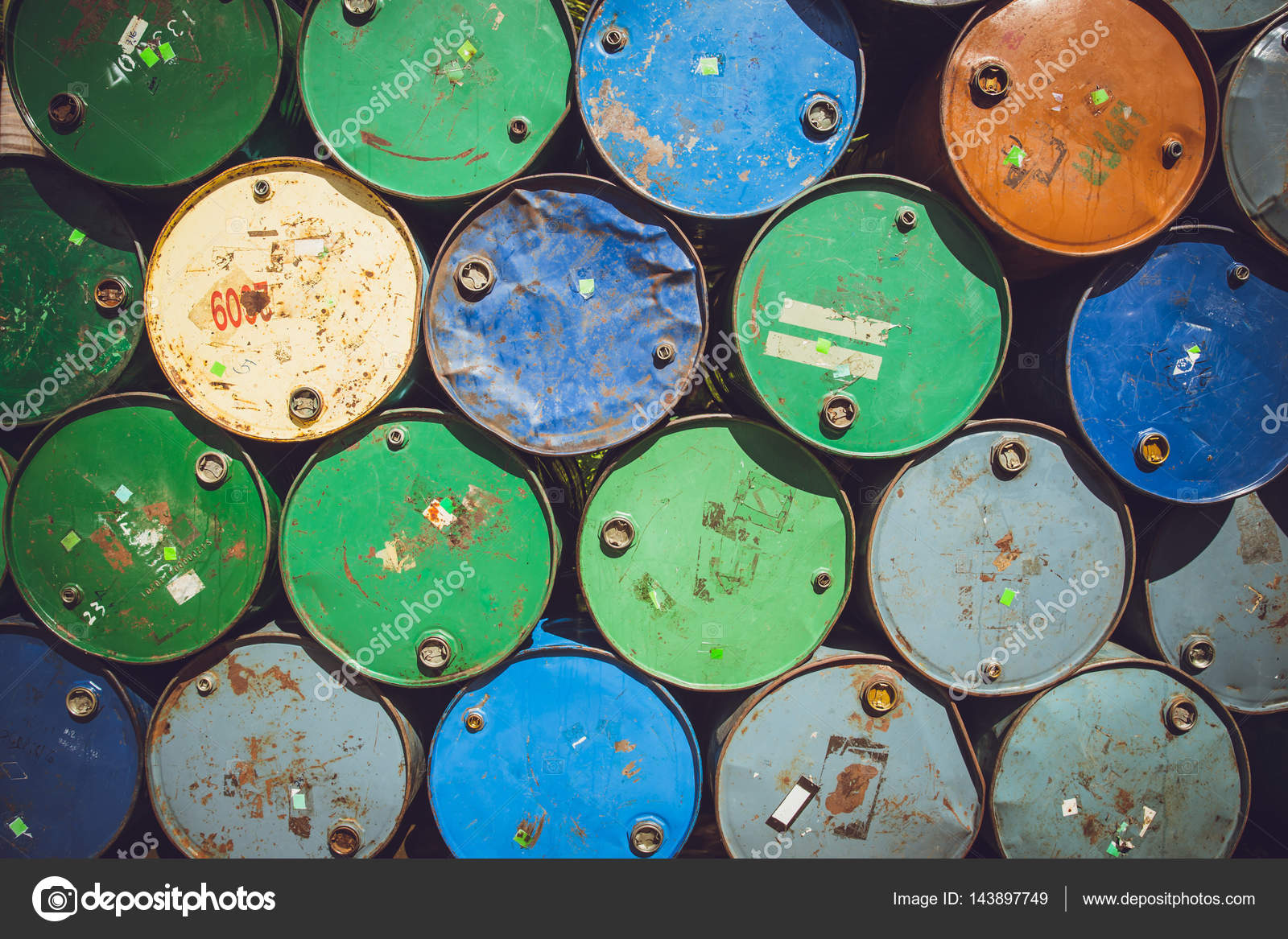 Steel barrel tank or oil fuel toxic chemical barrels old Rusty