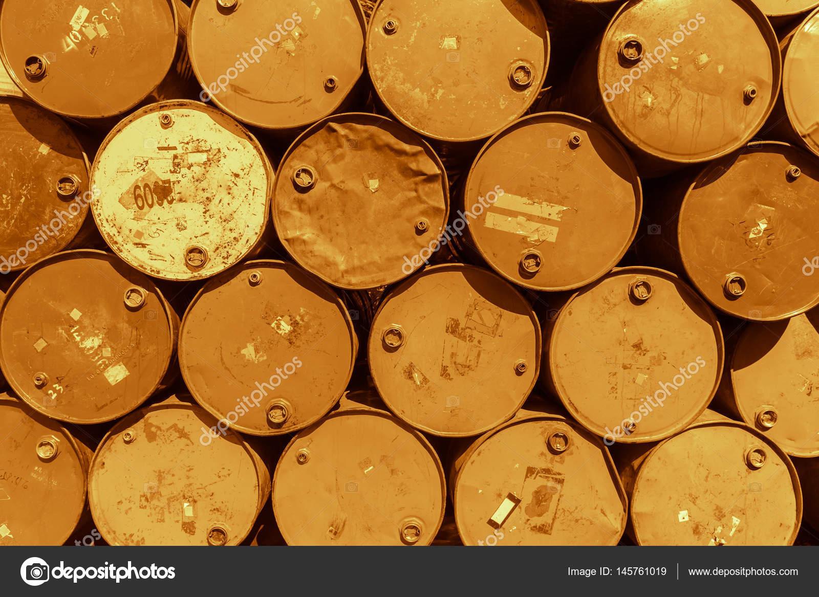 Steel barrel tank or oil fuel toxic chemical barrels old Rusty
