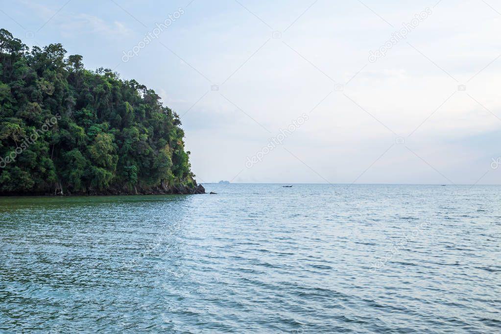 Tropical beach and island in Andaman Sea, Thailand