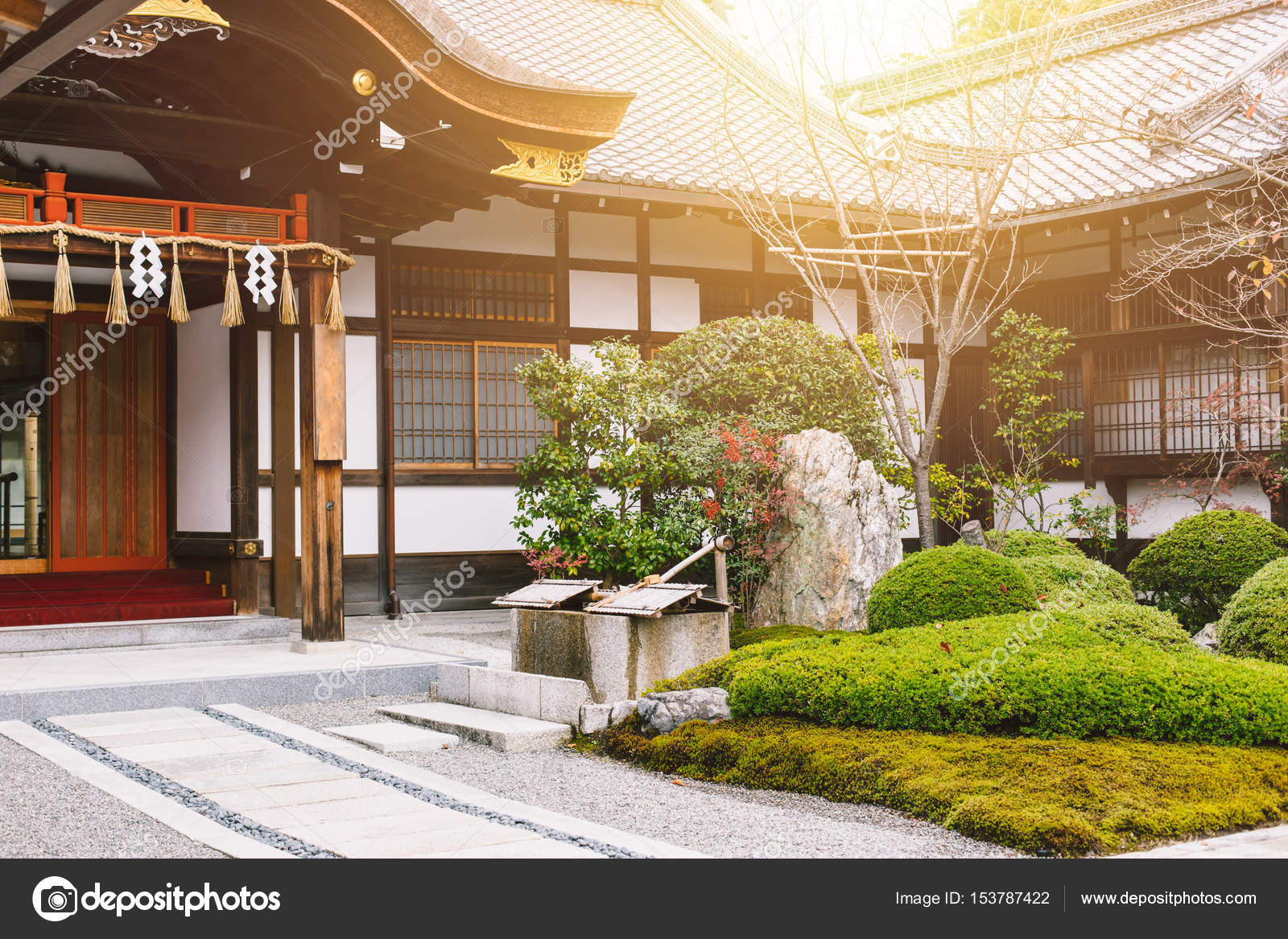 Japan Home Garden Zen Style Traditional Asian Architecture. U2014 Stock Photo