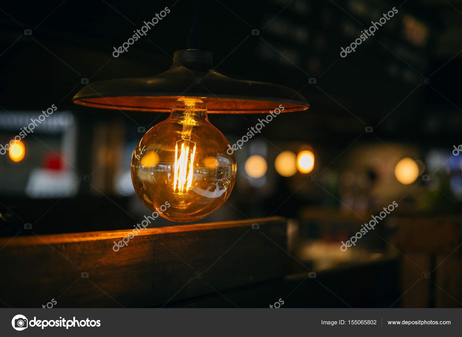 Retro verlichting nachtleven, vintage lamp café decoratie ...