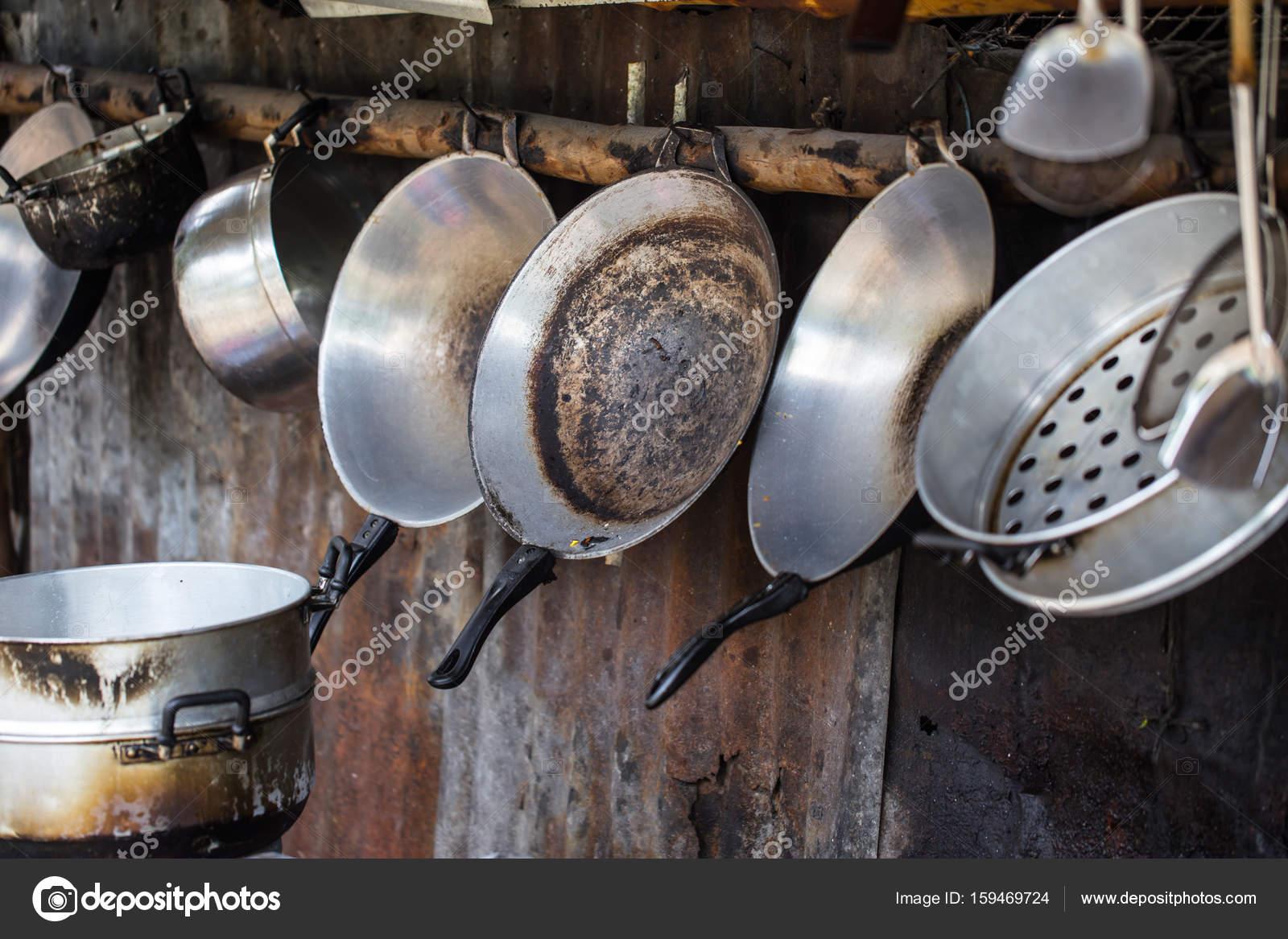 Antiga Cozinha Suja Suja Stock Photo Coffeekai 159469724