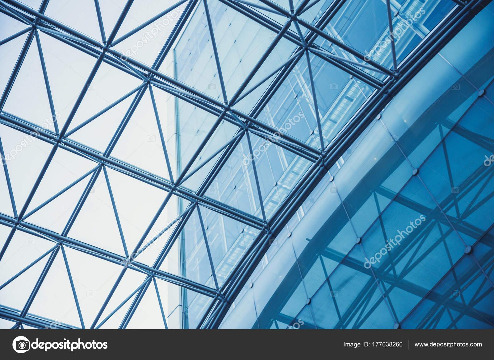 Modernes Gebäude Glasdach Metall Rahmenkonstruktion — Stockfoto ...