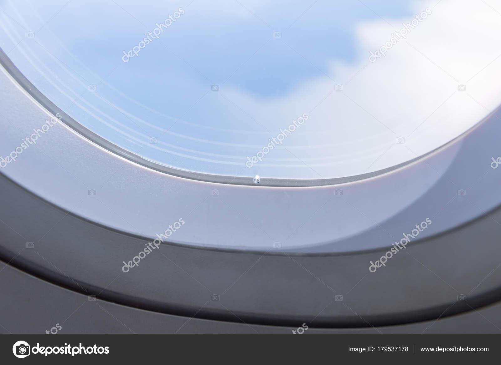 Bleed Holes Tiny Small Hole Airplane Windows — Stock Photo