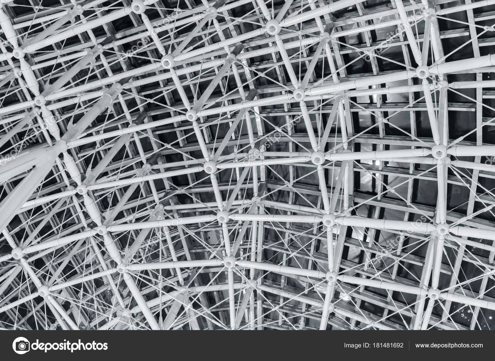 Construcción Marco Alambre Geometría Techo Acero — Fotos de Stock ...