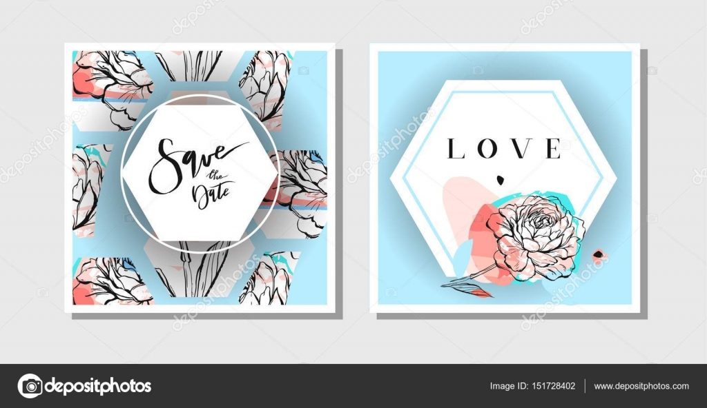 Hand Drawn Vector Abstract Creative Collage Freehand Textured Save