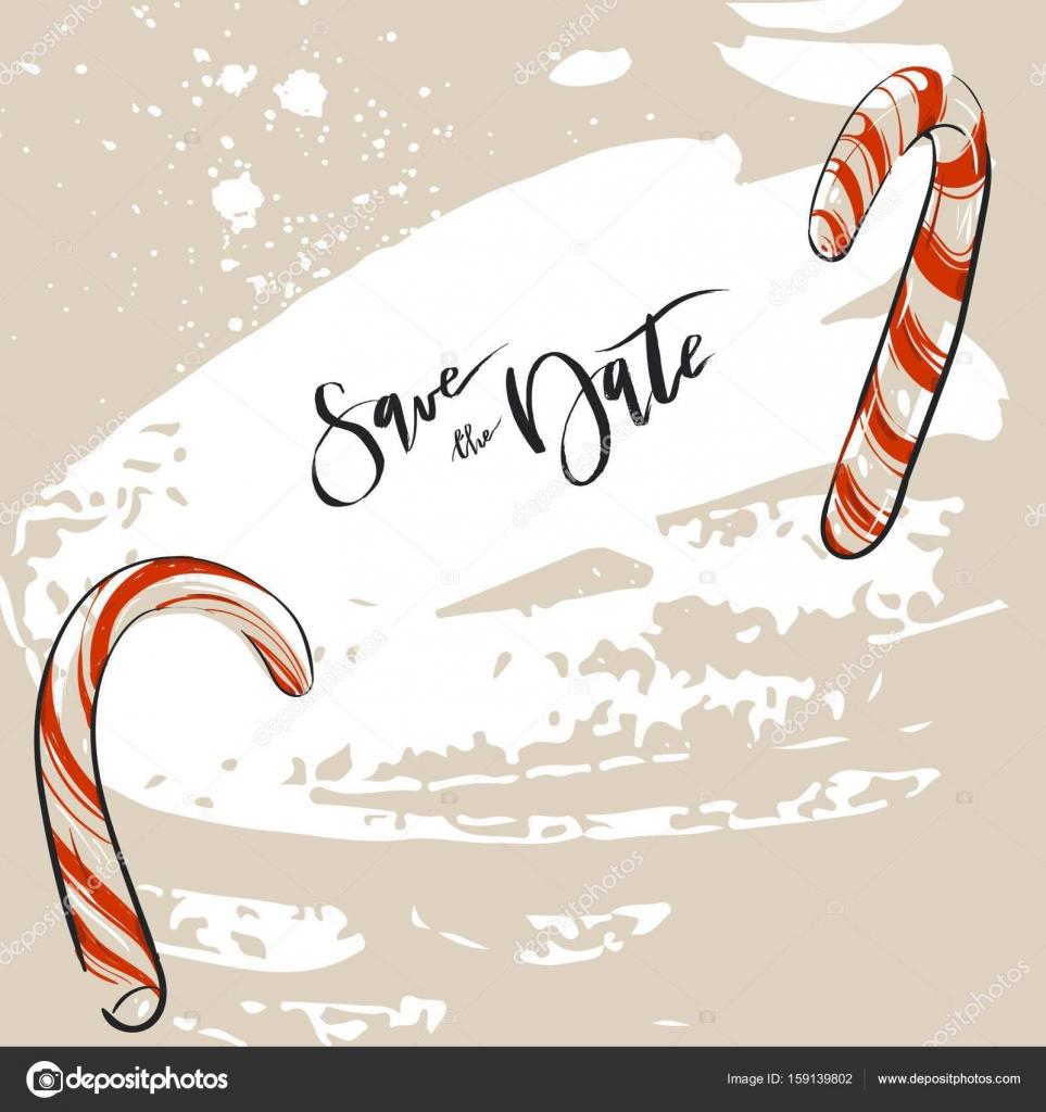 Handgemalte abstrakte Weihnachtsdekoration Vektor speichern die ...