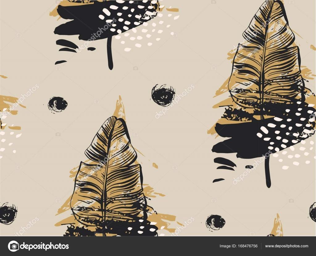 Mano dibujado vector abstracto con textura de patrones sin fisuras ...