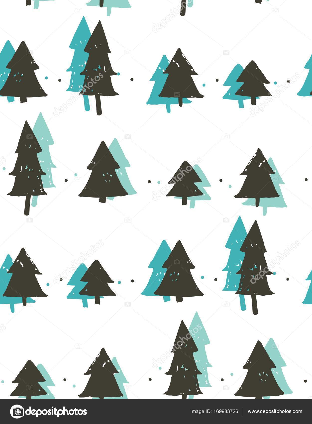 Hand Drawn Vector Abstract Fun Merry Christmas Time Cartoon Freehand Illustration Seamless Pattern With Vintage Retro Christmas Trees Forest Isolated On White Background Stock Vector C Helter Skelter Nastya Yandex Ru 169983726 Tree cartoon christmas stock vectors, clipart and illustrations. depositphotos