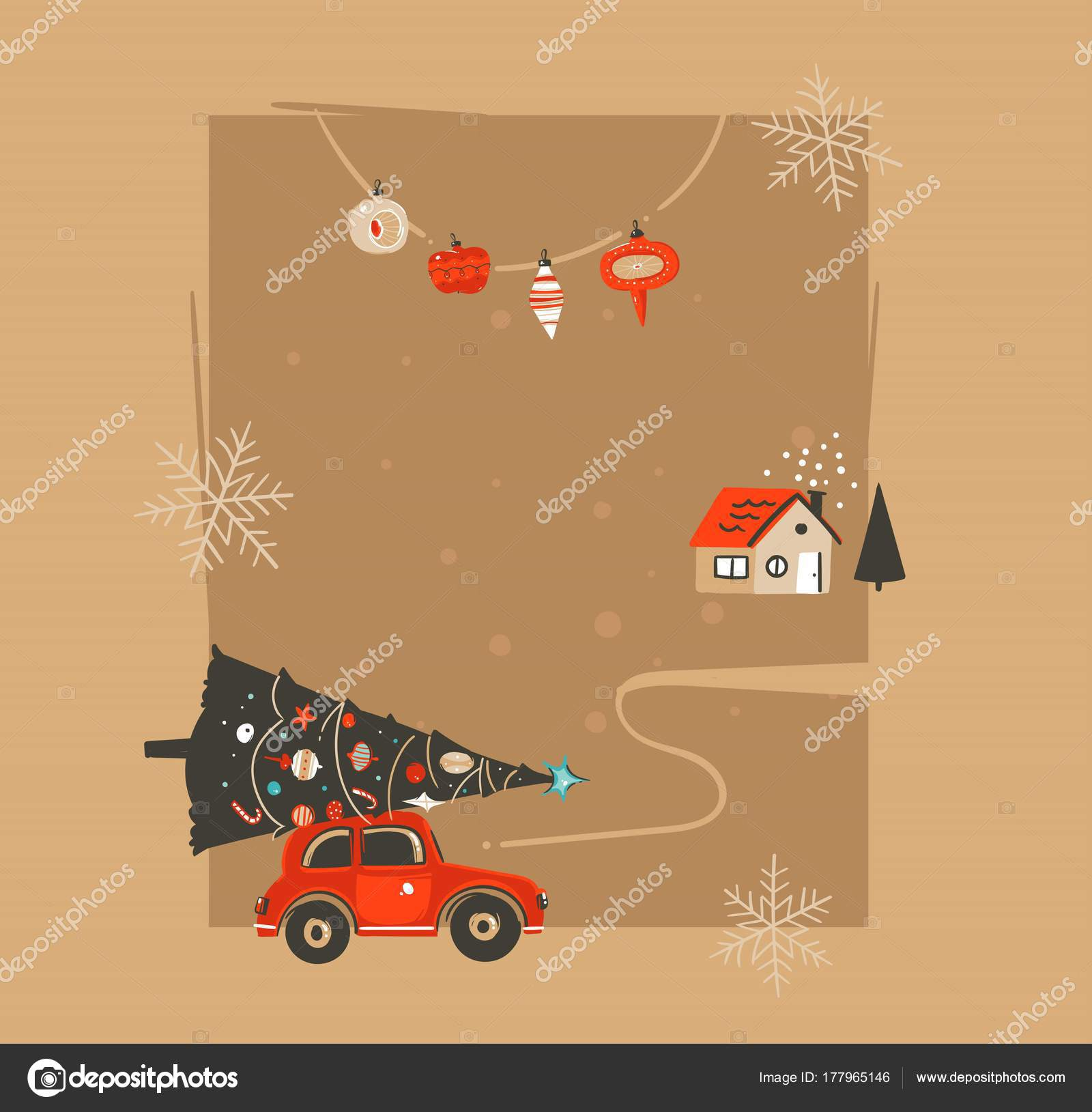 Resumen de vectores dibujados mano feliz Navidad y feliz año nuevo ...