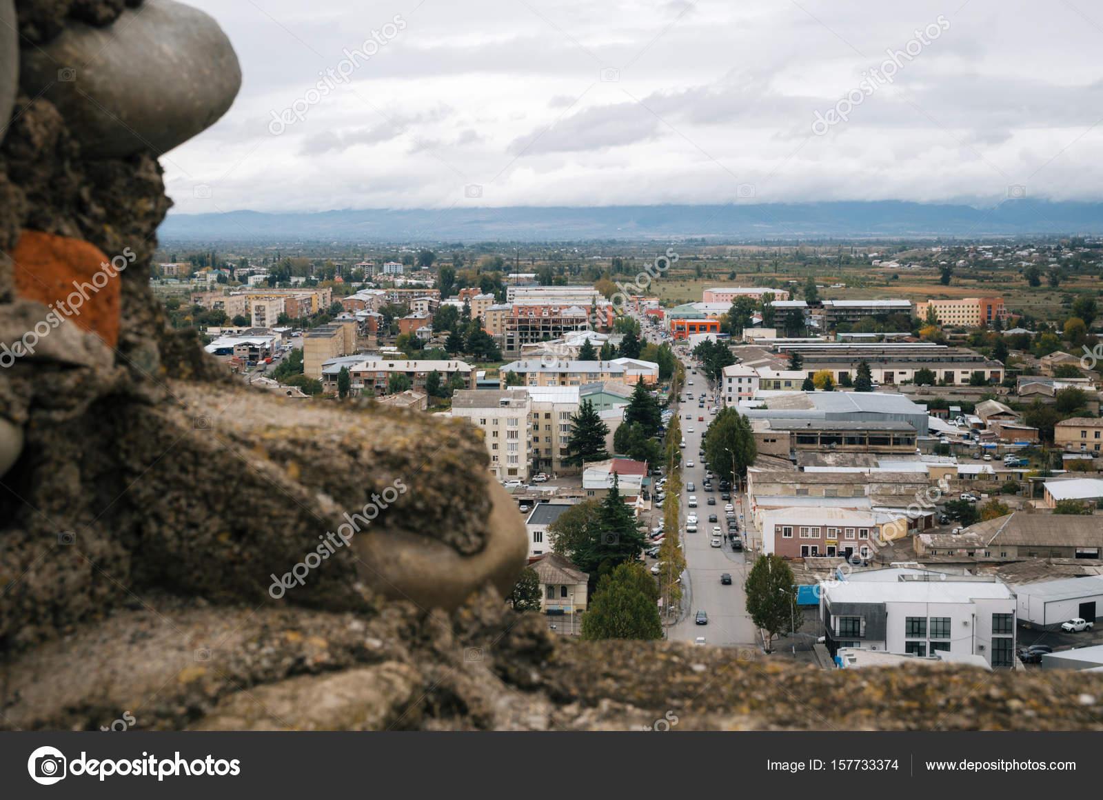 Edifici residenziali a gori vista aerea dalla fortezza for Piani di costruzione di edifici residenziali in metallo