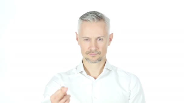 Businessman Showing Fuck You ,White Background