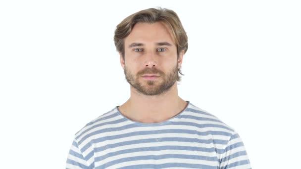Portrét středního věku muže s vousy