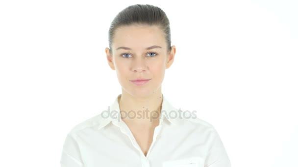 Herzform für die Liebe Frau, weißer Hintergrund