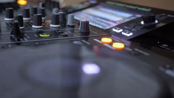 Close up Of Dj Instrument Playing Music