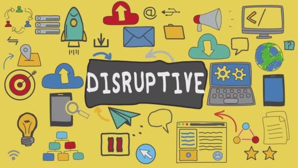 Disruptivní, grafický koncept Ilustrace