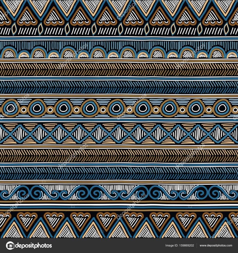 Geométrica étnica oriental de patrones sin fisuras. Mano doodled ...
