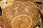 handmade of birch bark manuscripts and environmental tableware made of wood